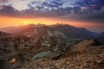 Пирин планина - залез от връх Валявишки чукар.