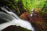 На каменната плоча над водопад Ланжин скок.