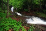 Водопад Ланжин скок по време на дъжд.