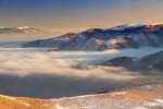 Поглед от връх Бегличка могила в посока Ржана и Етрополска планини.