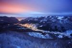Село Згориград и град Враца осветяват синия час!:-)
