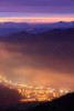 Нощем над град Смолян. Родопа планина