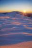 По изгрев на връх Амбарица. Национален Парк Централен Балкан