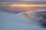 По залез от Голям Мечи връх. Рила планина