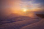 По изгрев от билото на Голям Мечи връх. Рила планина
