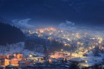 Зимна вечер около село Згориград