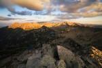 По залез слънце от Муратов връх. Пирин планина