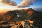 На Муратов връх по залез слънце. Пирин планина