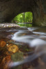 """Скален мост """"Шапран дупка"""" на река Белица. Родопа планина"""