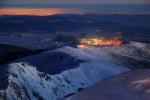 Преди изгрев от връх Мусала.