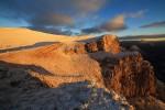 Кобилини стени и връх Бегличка могила по залез слънце на 31.12.2015г.