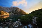 Езеро и връх Синаница в Пирин планина