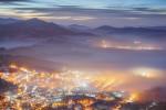 Привечер над град Белоградчик