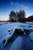 Язовир Широка поляна в зимна премяна