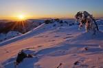 Планина Козница - изгрев от връх Тодорини кукли.